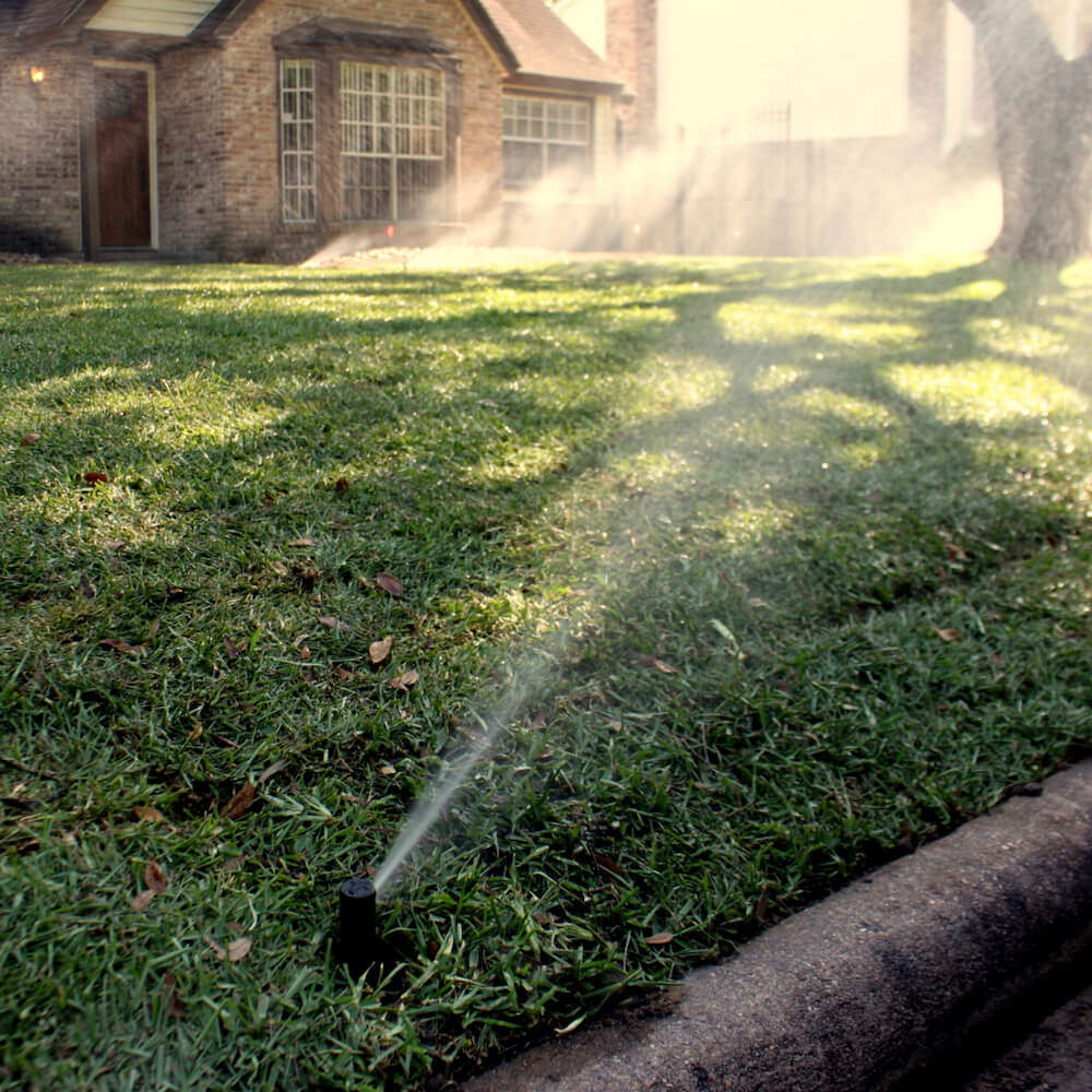 lawn sprinkler installation 77042